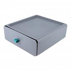 Контейнер пластиковий для зберігання речей, колір сірий, розмір S