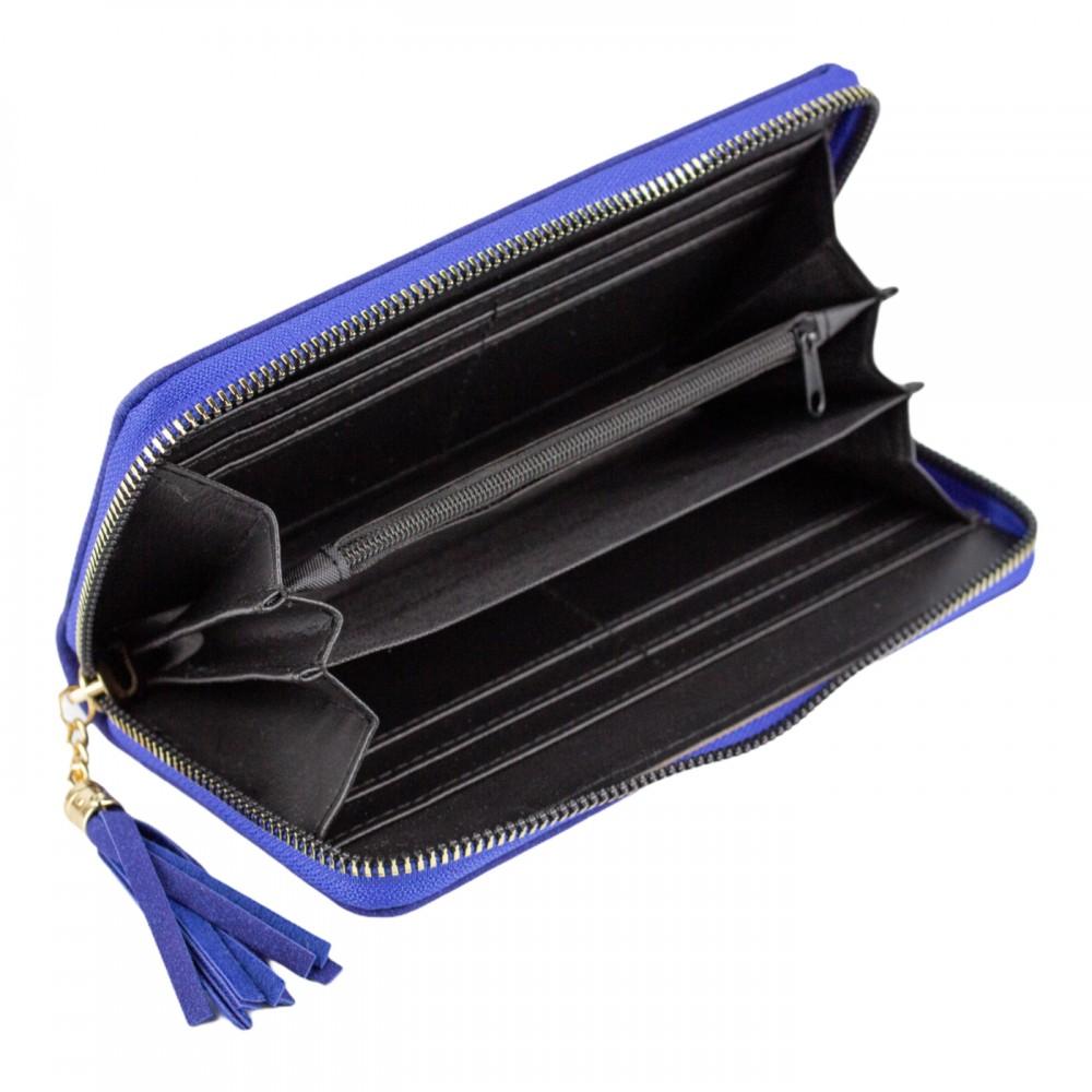 Гаманець жіночий, довгий, MEOW, колір синій