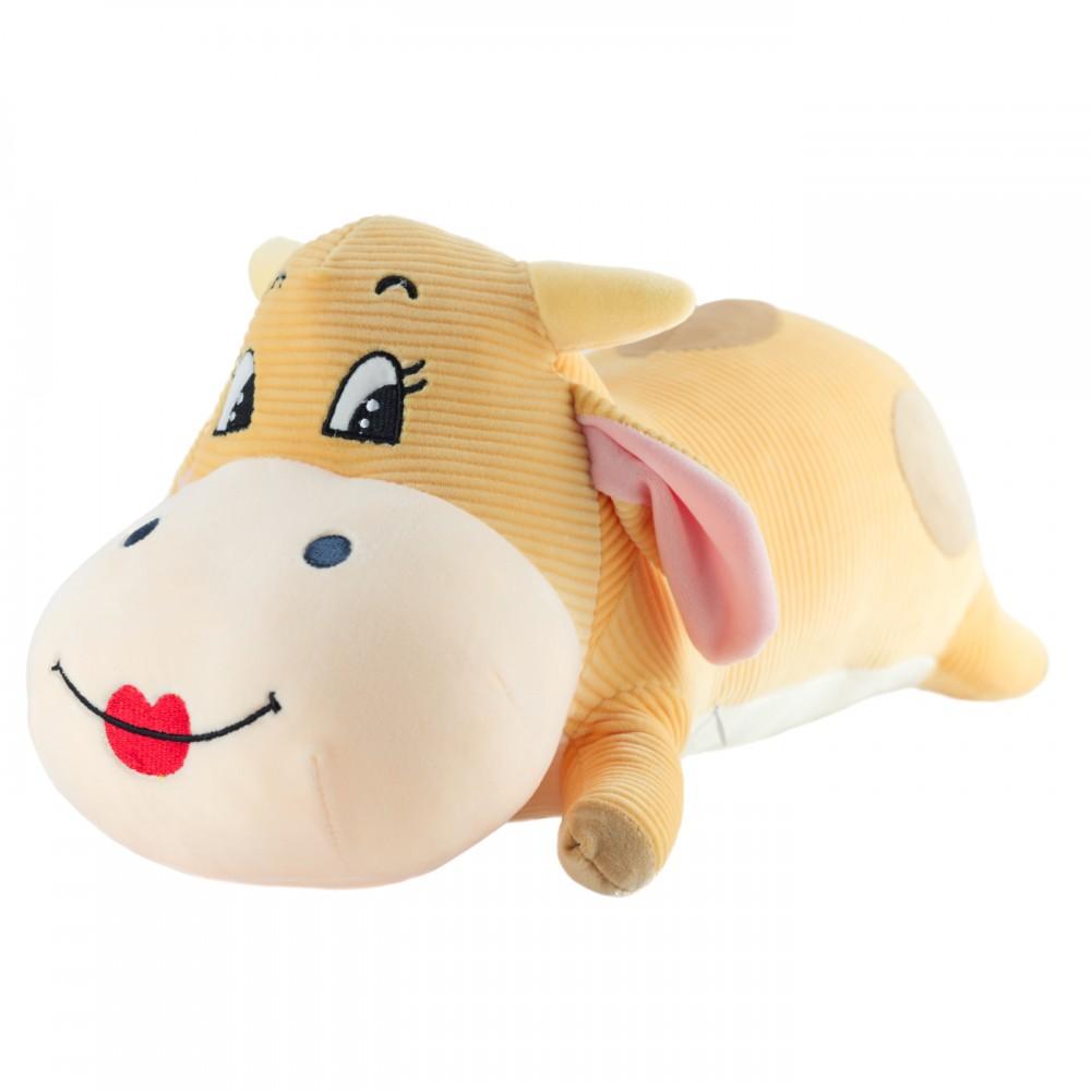 """Мягкая игрушка-подушка """"Лежачая коровка"""" 60 см девочка"""