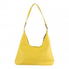 Сумка жіноча, через плече, гладка текстура, колір жовтий