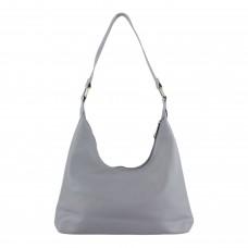 Сумка жіноча, через плече, гладка текстура, колір сірий