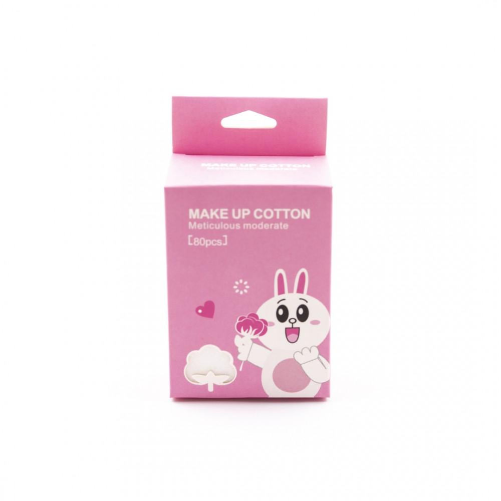 Спонжи косметические хлопчатобумажные тревел-упаковка 80 AMOS
