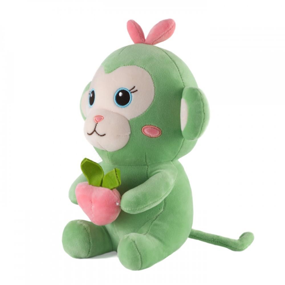 """Игрушка мягкая """"Мавпочка з персиком"""" 25 см"""