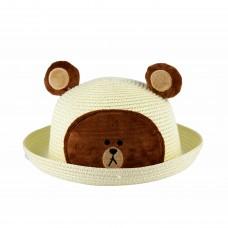 """Шляпа дитяча """"Ведмедик"""", колір кремовий"""