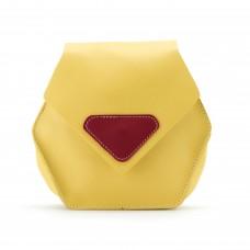Сумка через плечо с декоративным треугольником маленькая