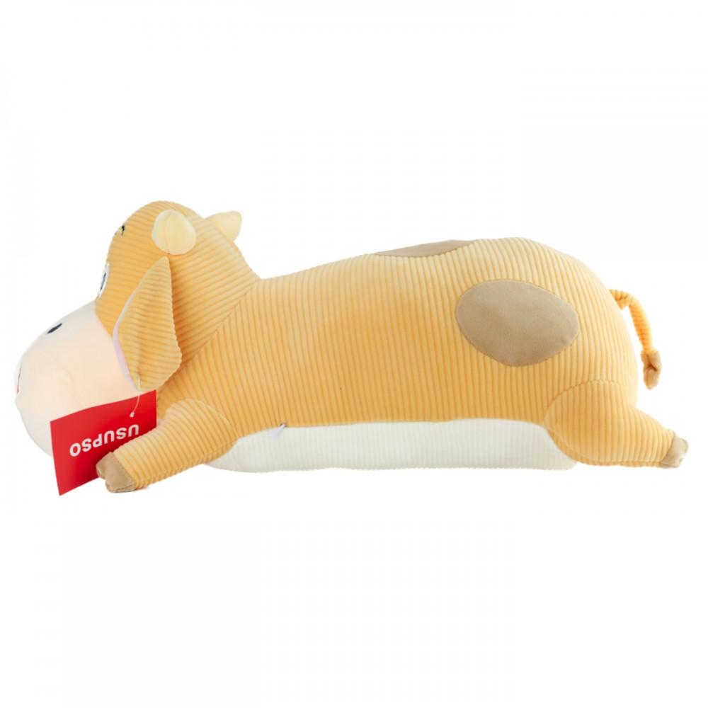 """Мягкая игрушка-подушка """"Лежачая коровка"""" 60 см мальчик"""