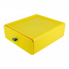 Контейнер пластиковий для зберігання речей, колір жовтий, розмір L