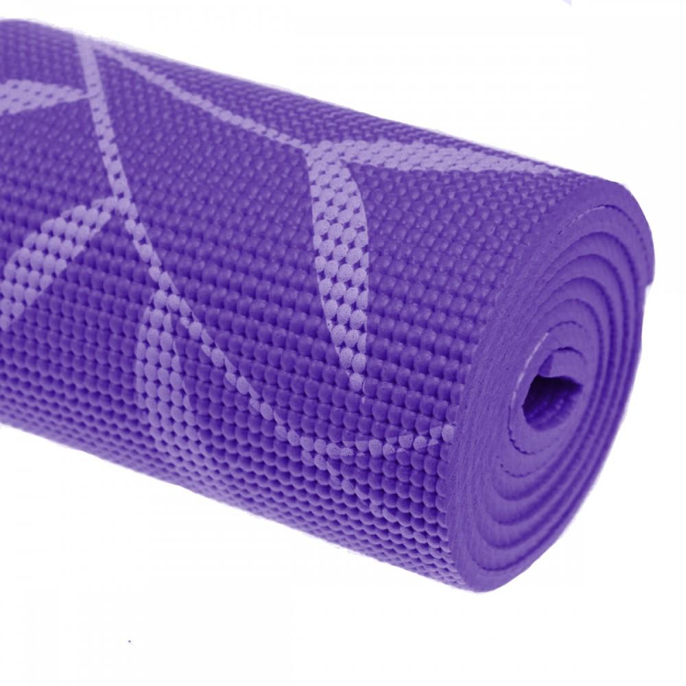 Килимок для йоги 6 мм колір фіолетовий-рожевий