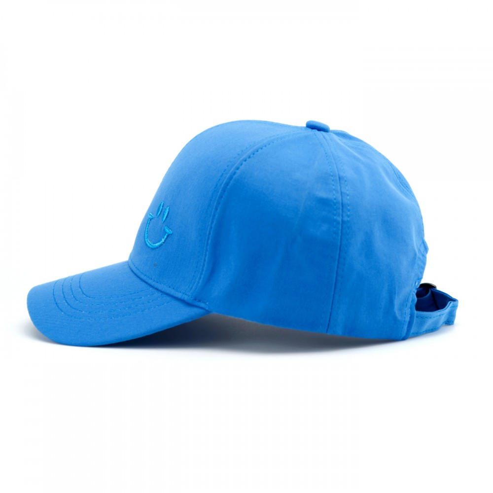 Кепка класична, унісекс, Смайл, колір блакитний