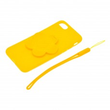 "Чехол для телефона 3D с подставкой-зеркальцем ""Цветок"" цвет желтый арт.TP01965-1"