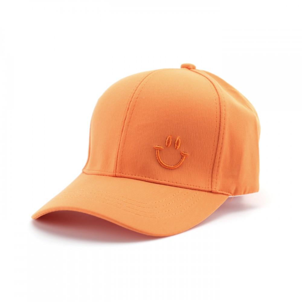 Кепка класична, унісекс, Смайл, колір помаранчевий
