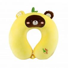 """Подушка для подорожей """"Ведмедик"""", жовтий колір"""
