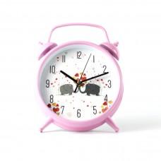 """Годинник настінний """"Слони"""" колір рожевий"""