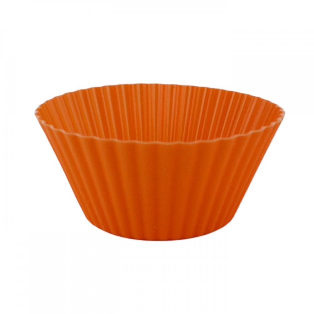 Форма для випікання кексів, класична, силіконова, колір помаранчевий