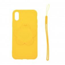 "Чехол для телефона 3D с подставкой-зеркальцем ""Цветок"" цвет желтый арт.TP01965-2"