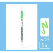 Ручка гелева двостороння флуоресцентний зелений колір