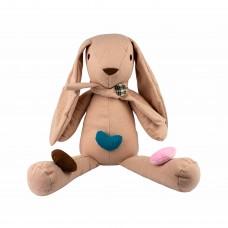"""М'яка іграшка """"Зайка з сердечками"""", 55 см"""
