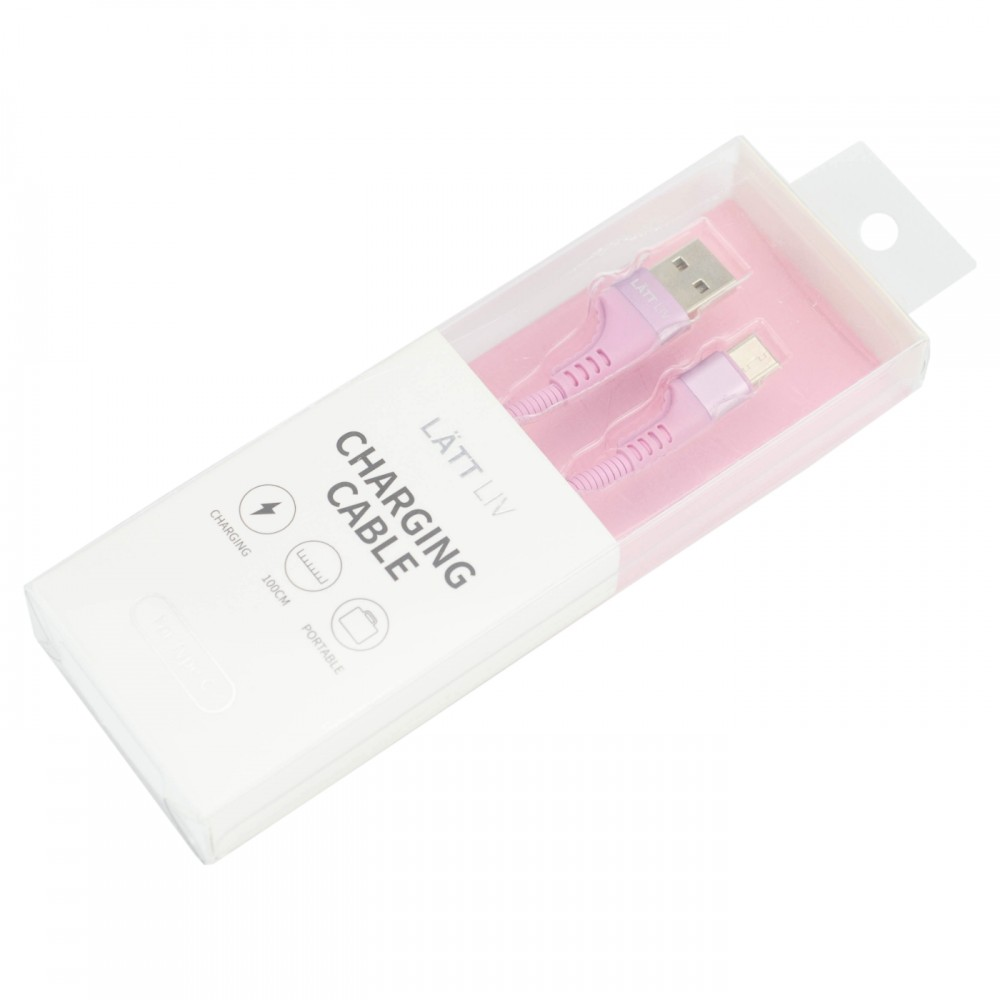 Дата-кабель для смартфону Type-C колір ніжно-рожевий