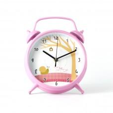 """Годинник настінний """"Равлик"""" колір рожевий"""