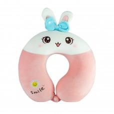 Подушка для подорожей кролик із бантиком