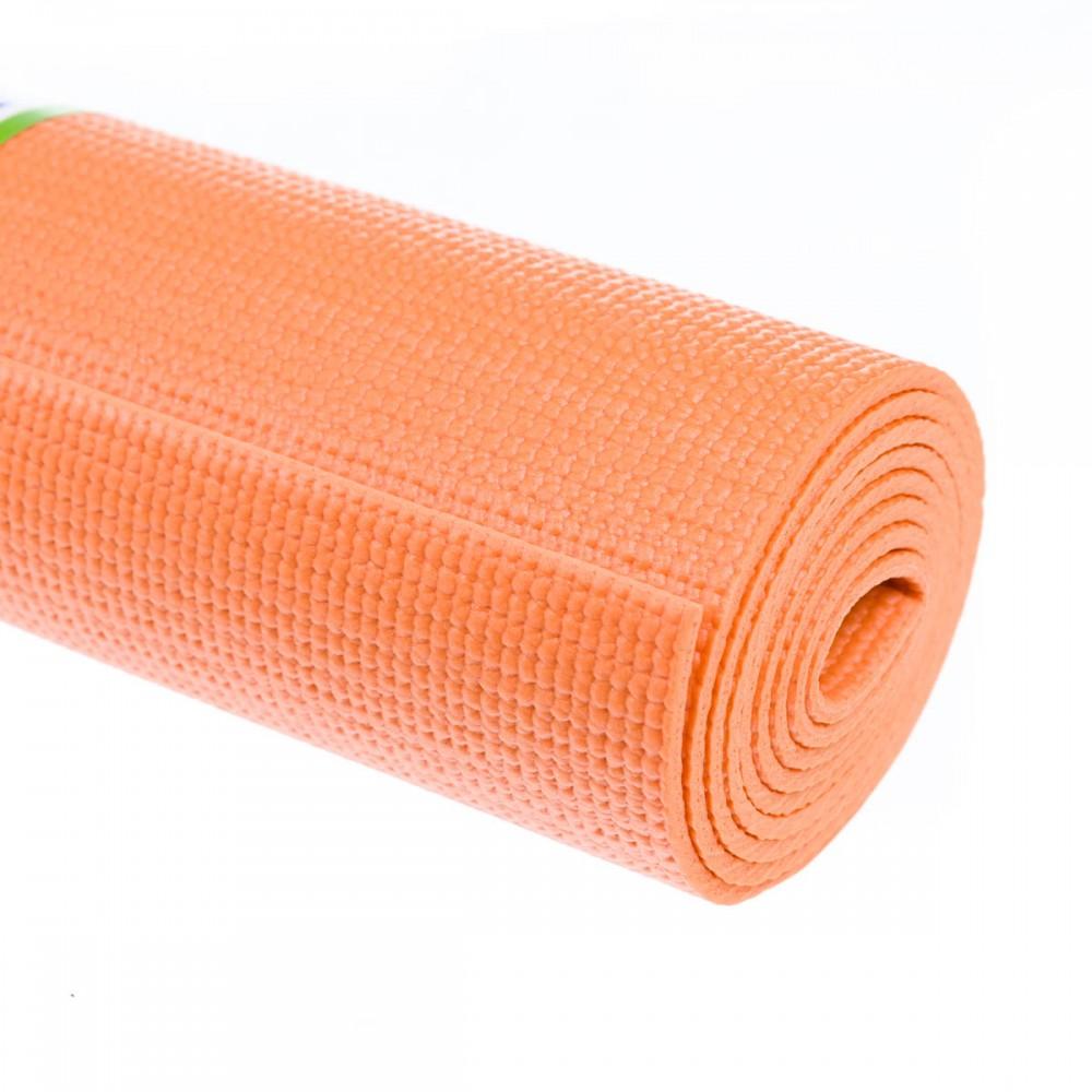 Килимок для йоги 4 мм помаранчевий