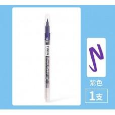 Ручка гелева двостороння фіолетовий колір