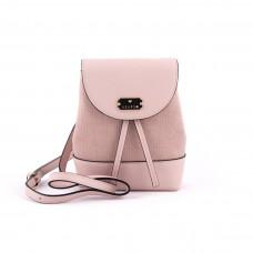 Сумка жіноча у формі рюкзака мініатюрна колір світло-рожевий