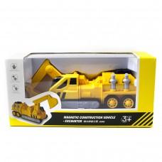 Машинка іграшкова екскаватор колір жовтий