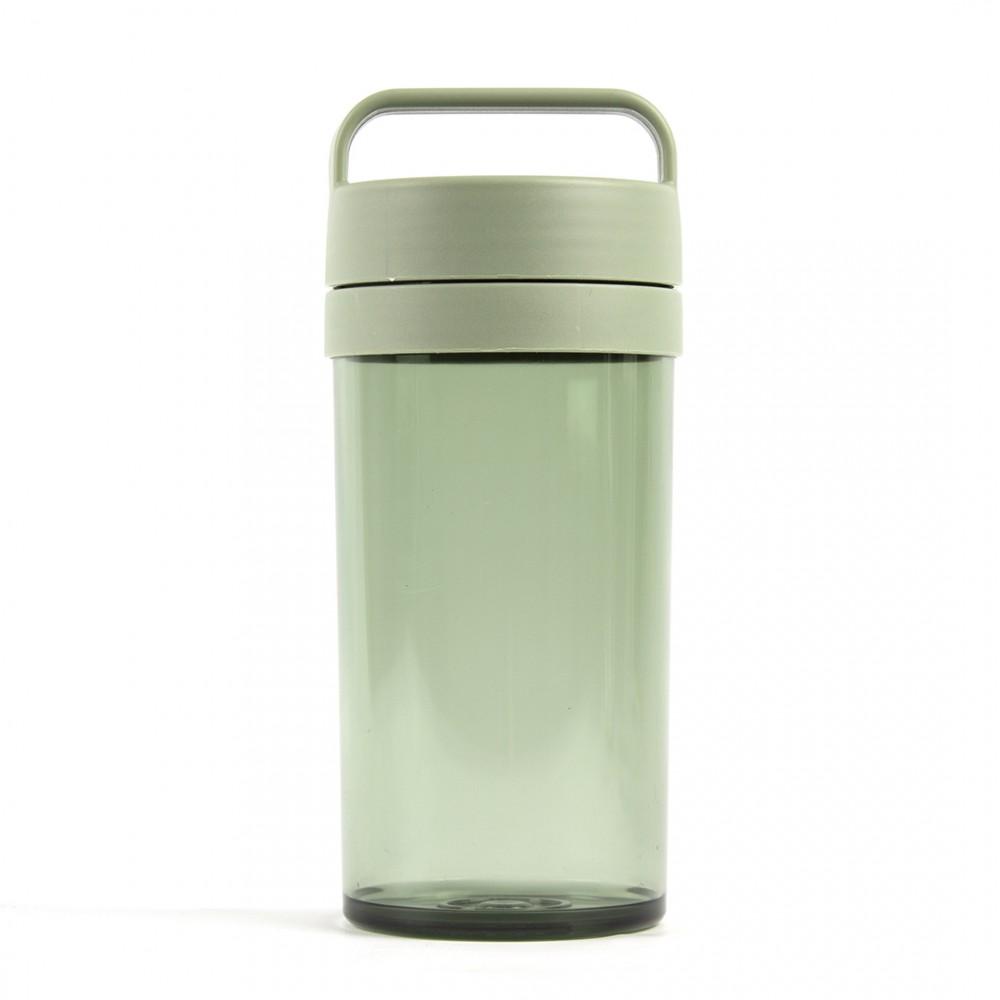 Бутылка пластиковая зеленый цвет 390 мл