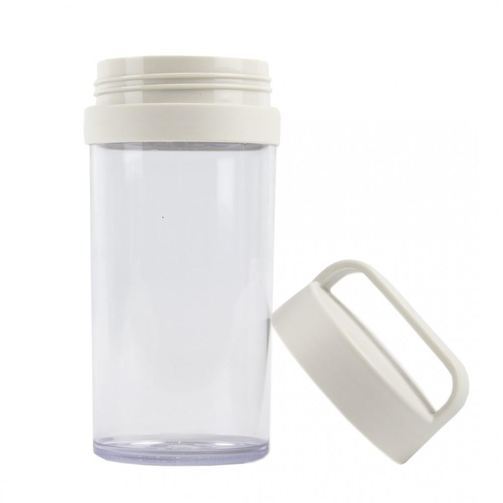 Бутылка пластиковая белого цвета 390 мл