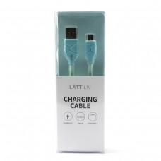 Дата-кабель для зарядки Micro голубого цвета