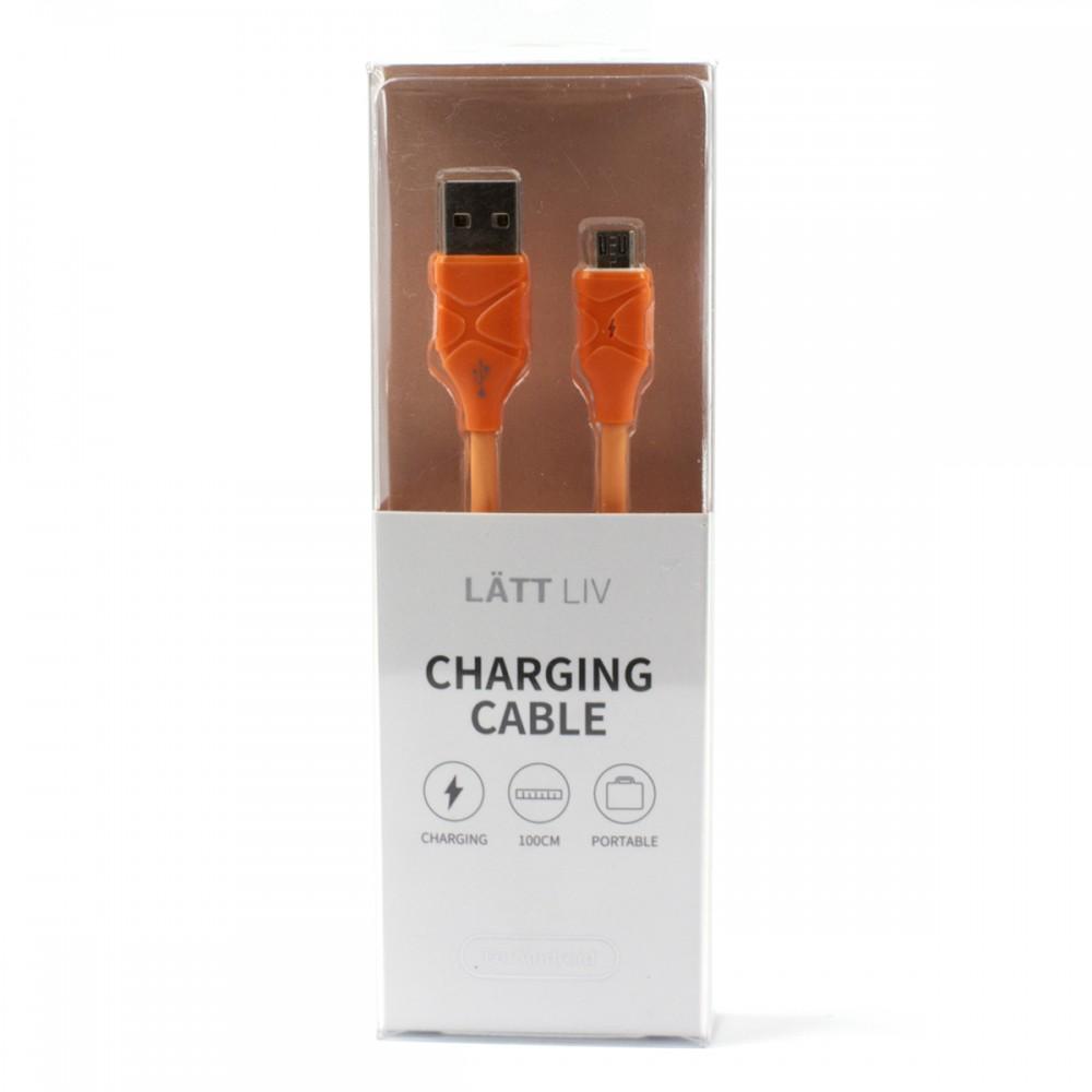 Дата-кабель для зарядки Micro помаранчевий колір
