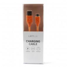 Дата-кабель для зарядки Micro оранжевого цвета
