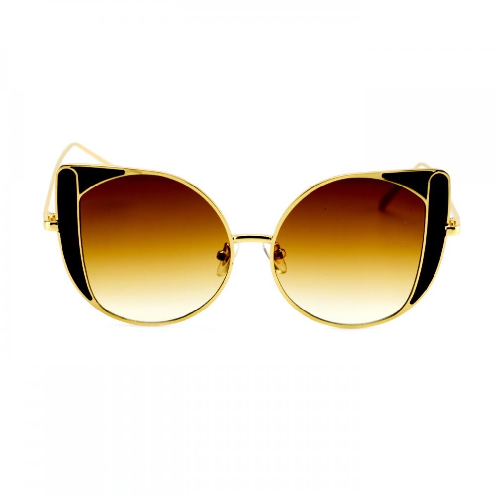 Окуляри сонцезахисні, форма котяче око, яскраві кольори