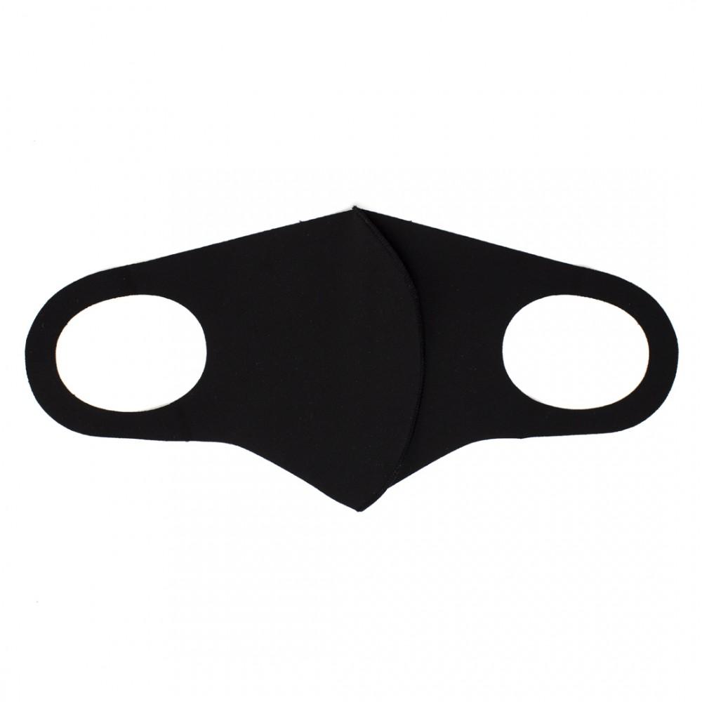 Захисна маска для обличчя стильна колір чорний